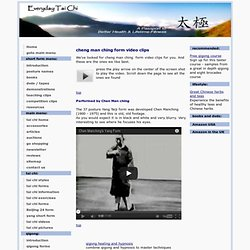 cheng man ching form video clips