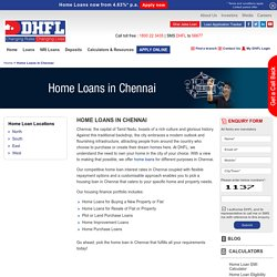 Home Loans in Chennai, Housing Finance Company in Chennai - DHFL
