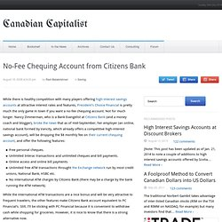 No-Fee Chequing Account from Citizens Bank