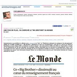 """Une fois de plus, j'ai cherché le """"Big Brother"""" du Monde"""