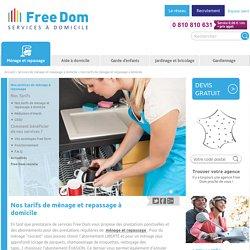 Tarif femme de menage - Cherche femme de ménage ou aide ménagère à domicile - Free Dom'