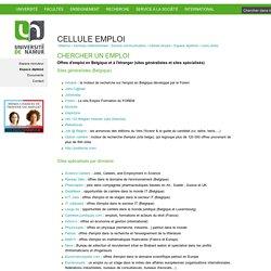 CHERCHER UN EMPLOI — Université de Namur