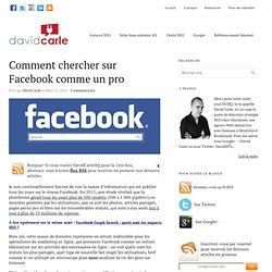 Comment chercher sur Facebook comme un pro