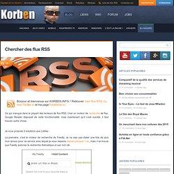 Chercher des flux RSS