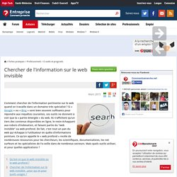 Chercher de l'information sur le web invisible