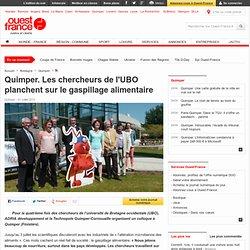 OUEST FRANCE 01/07/13 Quimper. Les chercheurs de l'UBO planchent sur le gaspillage alimentaire