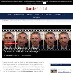 Des chercheurs créent un faux Obama à partir de vraies images.