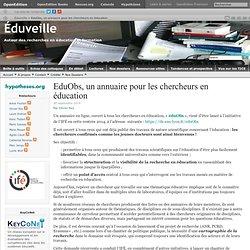 EduObs, un annuaire pour les chercheurs en éducation