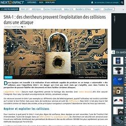 SHA-1 : des chercheurs prouvent l'exploitation des collisions dans une attaque
