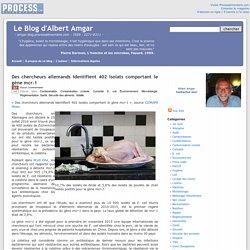 BLOG D ALBERT AMGAR 27/07/16 Des chercheurs allemands identifient 402 isolats comportant le gène mcr-1.