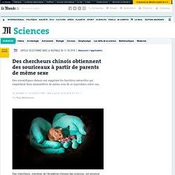 Des chercheurs chinois obtiennent des souriceaux à partir de parents de même sexe