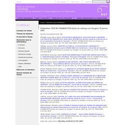 Actes du colloque sur Senghor 10 janvier 2002 - Yaoundé I
