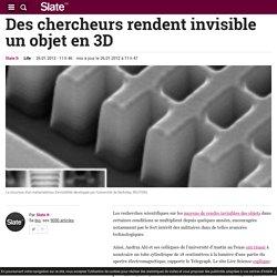 Des chercheurs rendent invisible un objet en 3D