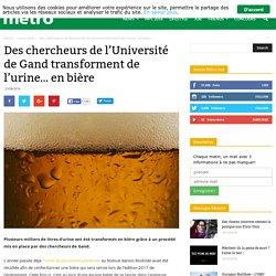 Des chercheurs de l'Université de Gand transforment de l'urine… en bière