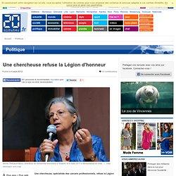 Annie Thébaud refuse la légion d'honneur