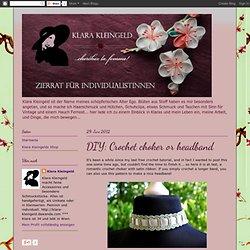 DIY: Crochet choker or headband