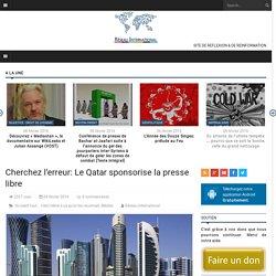 Cherchez l'erreur: Le Qatar sponsorise la presse libre