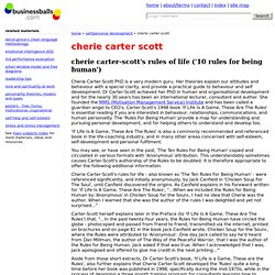 cherie carter scott's rules of life