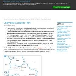 Chernobyl Disaster - World Nuclear Association