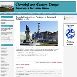 Chernobyl Nuclear Power Plant Current Background Radiation Levels - Chernobyl and Eastern Europe Blog