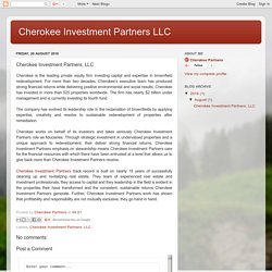 Cherokee Investment Partners LLC: Cherokee Investment Partners, LLC