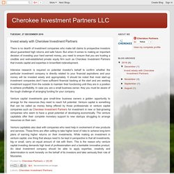 Cherokee Investment Partners LLC: Invest wisely with Cherokee Investment Partners
