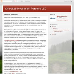 Cherokee Investment Partners LLC: Cherokee Investment Partners:Your Way to Optimal Returns