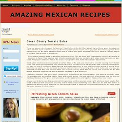 Green Cherry Tomato Salsa