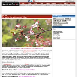 Too late for cherry blossoms in Tokyo? - where to see cherry blossoms