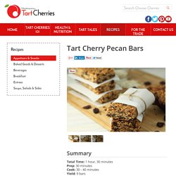 Tart Cherry Pecan Bars