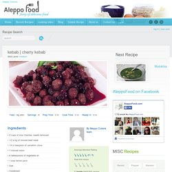 cherry kebab recipe