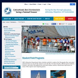 CBF Education - Student Field Programs - Chesapeake Bay Foundation