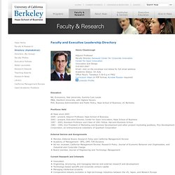 Henry Chesbrough | Faculty Directory