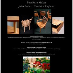 Cheshire Furniture Maker, John Bullar
