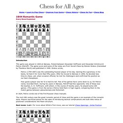 Chess Game - Every Move Explained - Move by Move - 1844 A Romantic Game