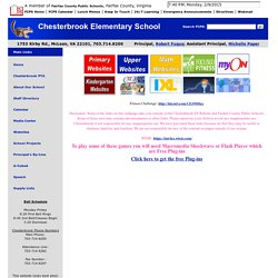 Chesterbrook Elementary School - Websites