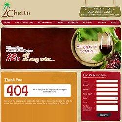 Chettinad - Menu