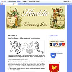Héraldie: Le cheval marin et l'hippocampe en héraldique