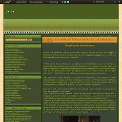 Histoire - Chevaliers de la table ronde - Tristan - Blog du Templier - Figurines des étains du Graal - Collection du Templier