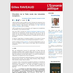 Chevaliers de la Table ronde des industriels européens...