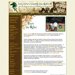 les Chevaliers du Rohan : JDR