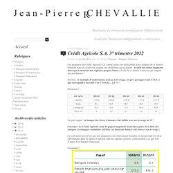 Crédit Agricole S.A. 3° trimestre 2012