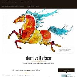 Ces races de chevaux rares ou en déclin – demivolteface