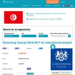 Chevening Awards 2016-2017 for international student