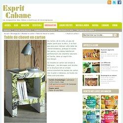 Meuble carton : faire une table de chevet