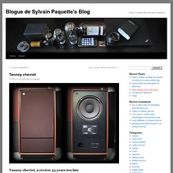 Blogue de Sylvain Paquette's Blog