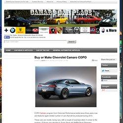 Comprar o hacer Chevrolet Camaro COPO - CamaroCarPlace