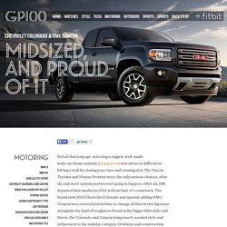 2015 Chevrolet Colorado & GMC Canyon