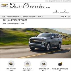 2021 Chevrolet Tahoe Houston dealership, Davis Chevrolet.