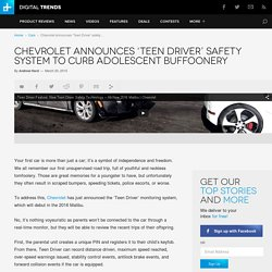 Chevrolet Teen Driver Safety System